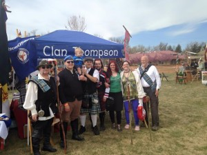 Clan Thompson at the 2015Colorado Tartan Day gathering.