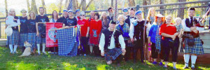 Clan Thompson gathers after the parade through downtown Estes Park