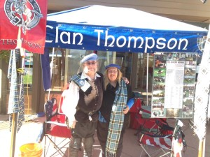 Clan Thompson Colorado was proud to meet many of those interested in family history at the games.